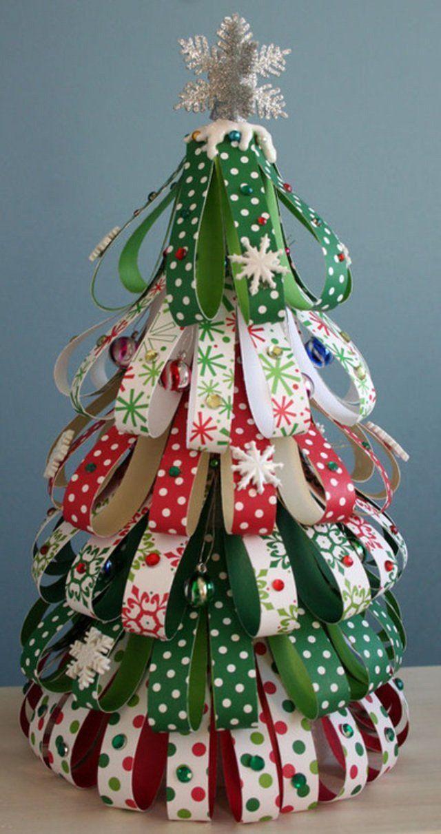 Нарядная Новогодняя елка из бумаги