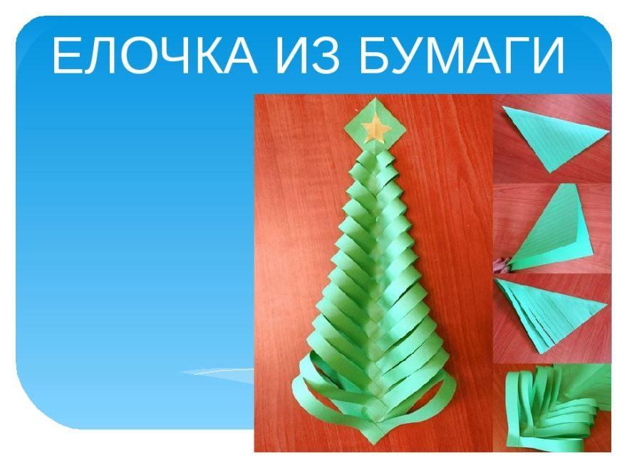 Поделка елка из бумаги