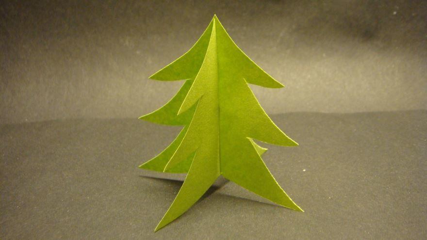 Сделать елку из бумаги своими руками