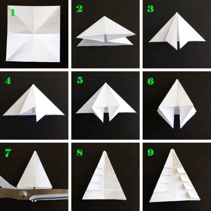 Елка для вырезания из бумаги