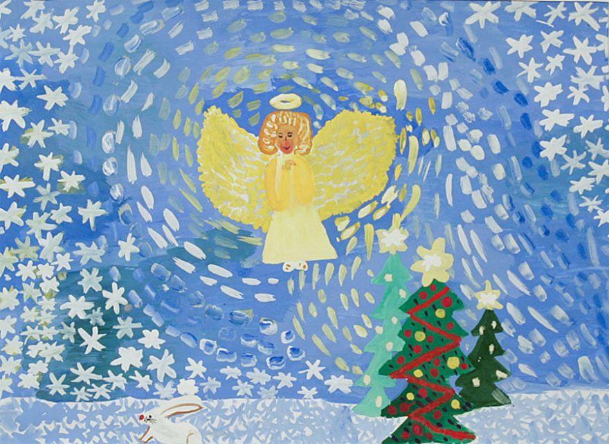 Светлый праздник Рождество Христово, рисунки