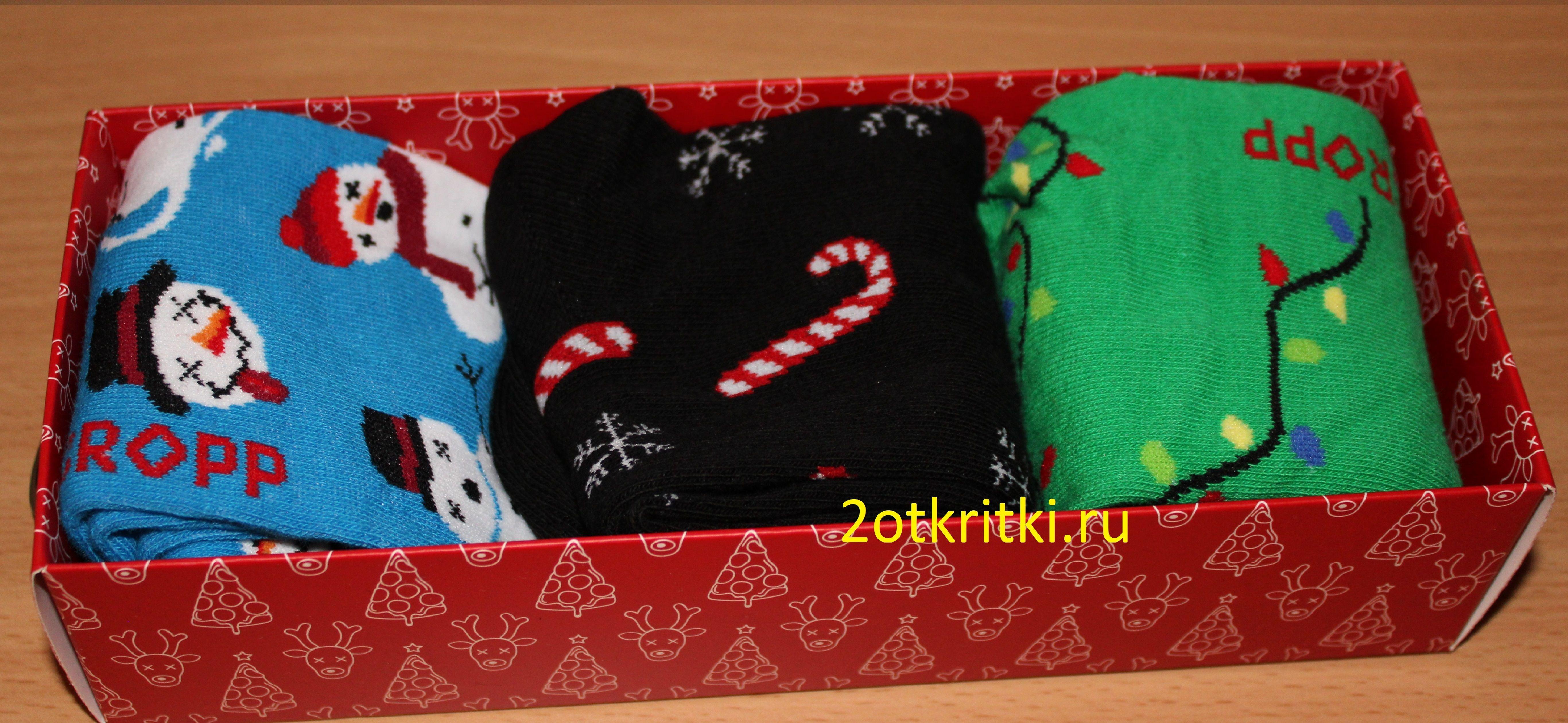 Идея подарка на Новый год - новогодние носки