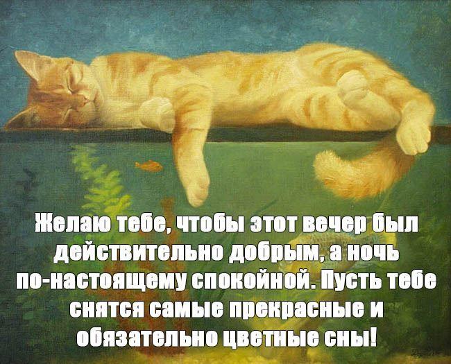 Спокойной ночи в прозе, своими словами