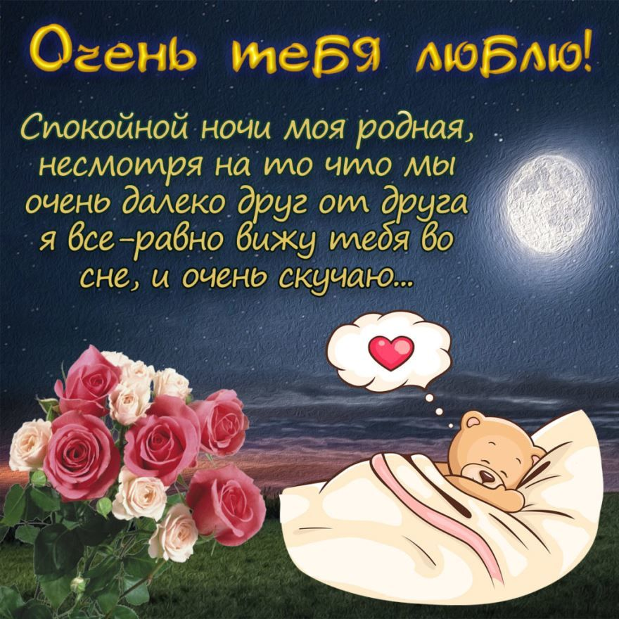 Пожелания Спокойной ночи любимой девушке, в прозе