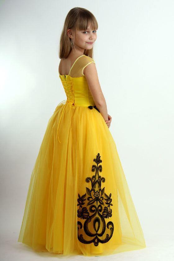 Длинное, пышное платье для девочки на выпускной 4 класс