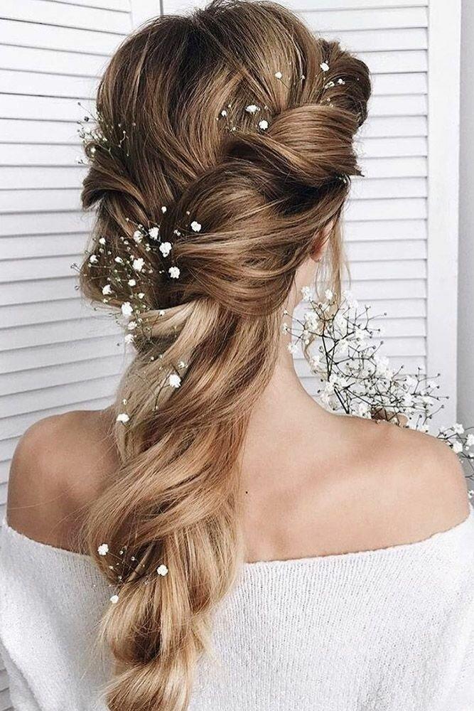 Красивая прическа на длинные волосы для девушки на выпускной 11 класс