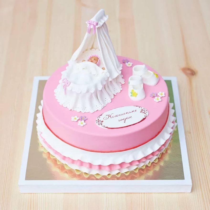 Красивая картинка торт на рождение девочки скачать бесплатно