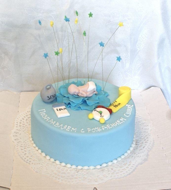 Торт на рождение ребенка своими руками