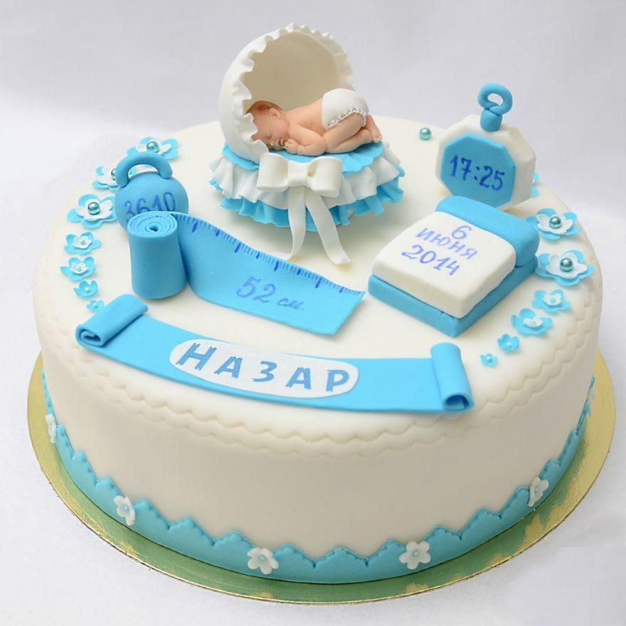 Домашний торт на рождение ребенка
