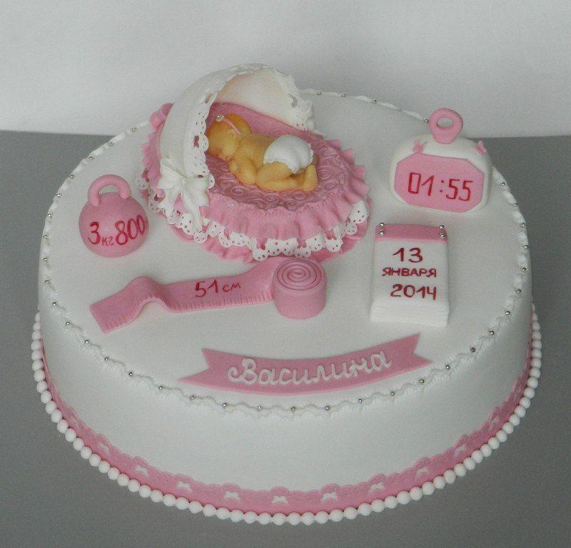Торт на рождение ребенка девочки