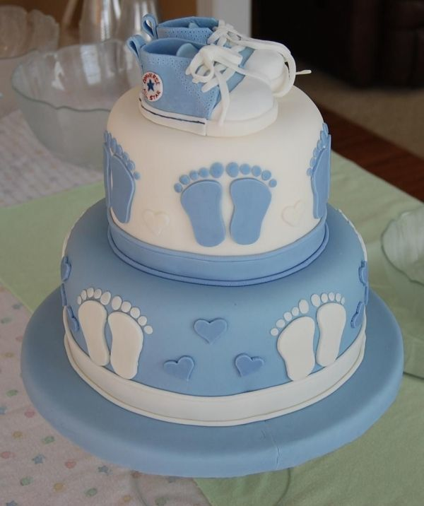 Красивые торты на рождение ребенка мальчика