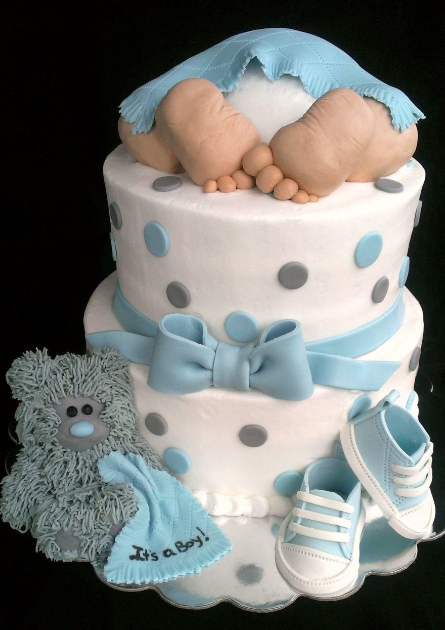 Торты на рождение ребенка мальчика