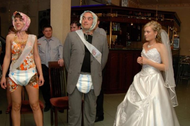 Шуточные гости на Свадьбе