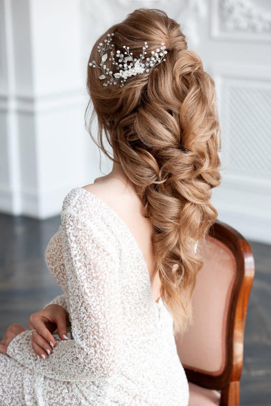 Фото прически на Свадьбу на длинные волосы