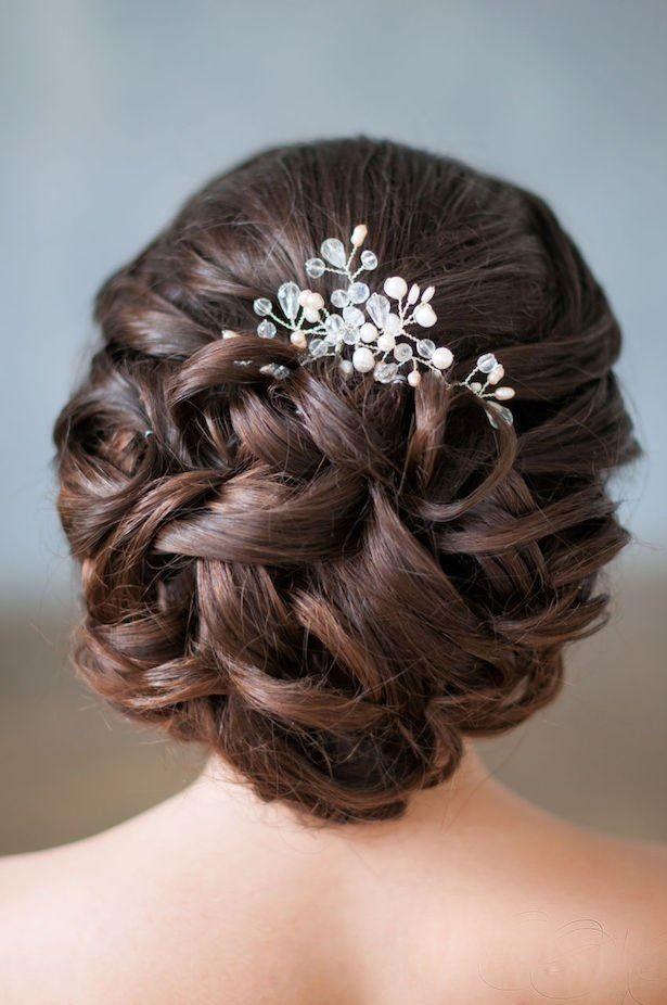 Прическа на Свадьбу на средние волосы