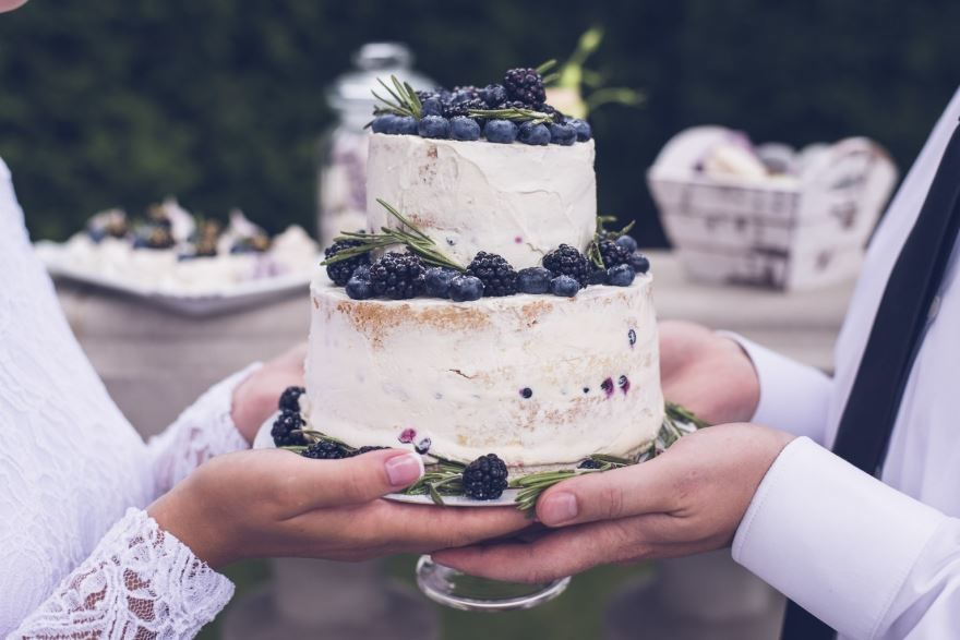 Двухъярусные торты на Свадьбу