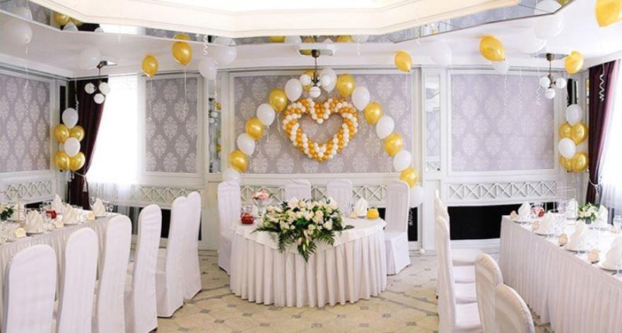 Фото оформление Свадьбы шарами