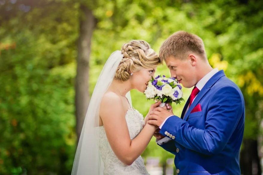 Свадьба, молодожены красивое фото
