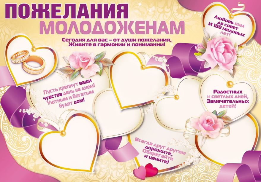 Пожелания молодым на Свадьбе