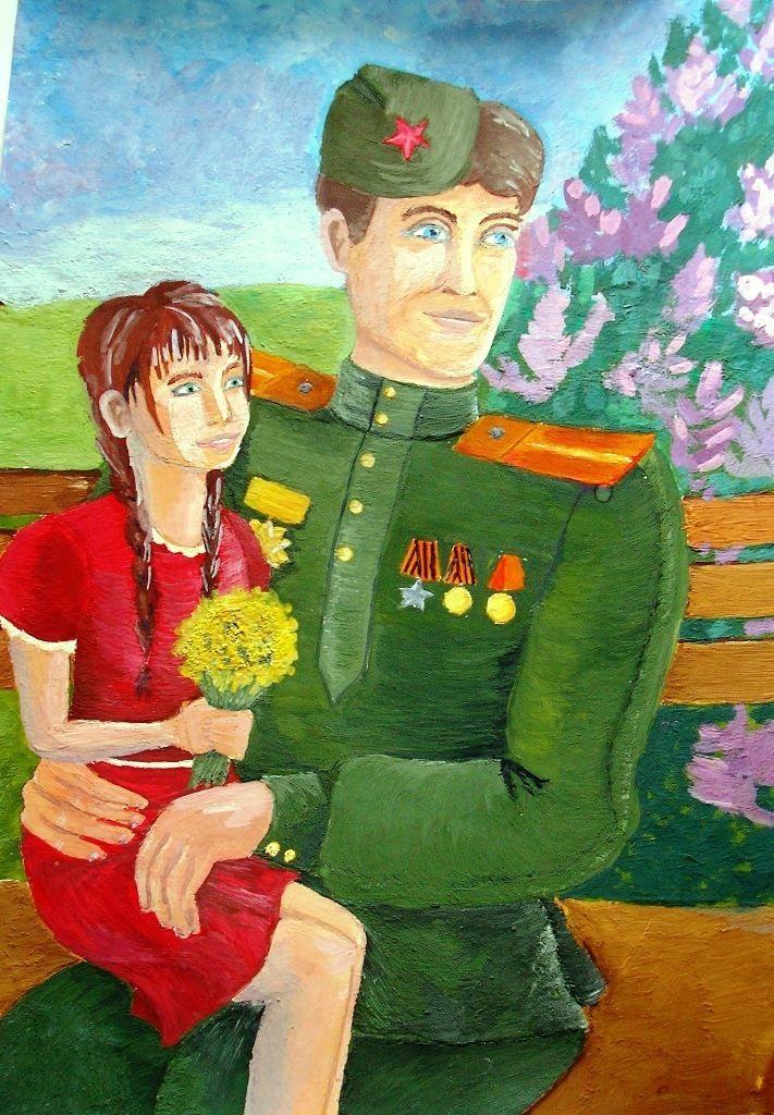 Рисунки к Дню Победы 9 мая детские