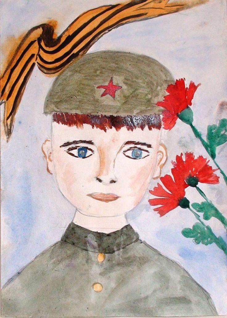 Рисунок на 9 мая в школу