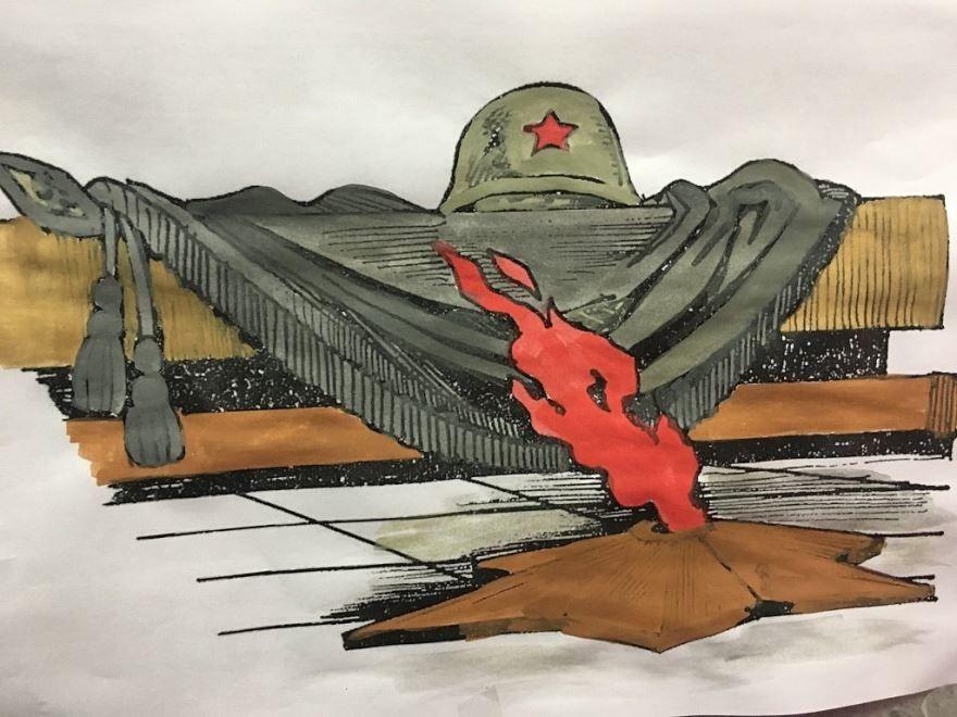 Рисунки на 9 мая 9 класс