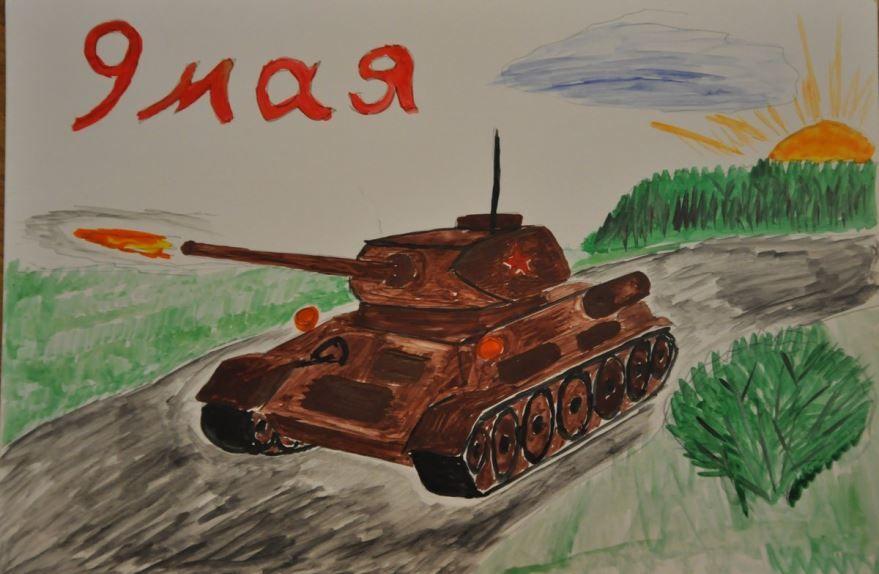 Рисунки на 9 мая День Победы легкие, детские