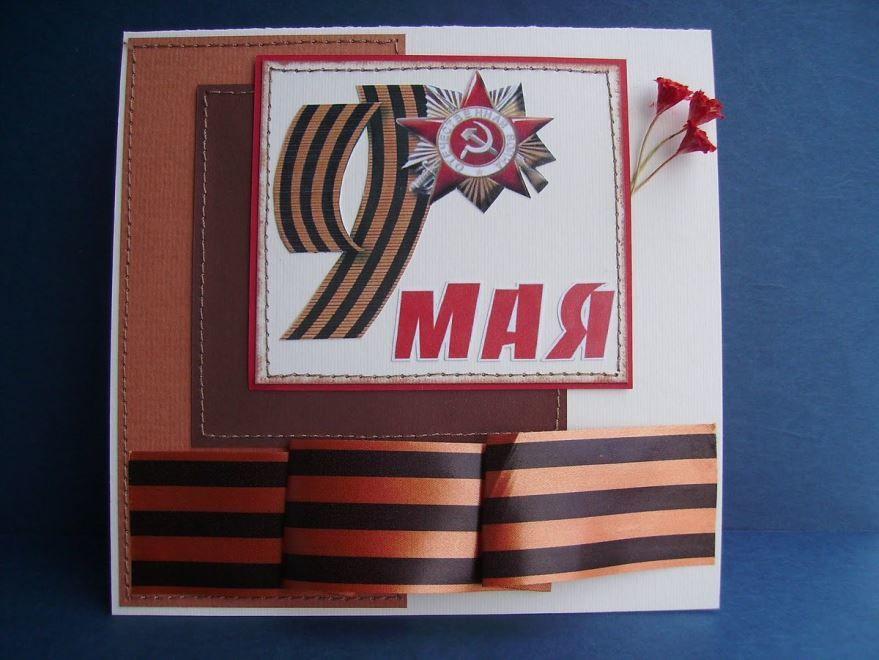 Красивые открытки на 9 мая своими руками
