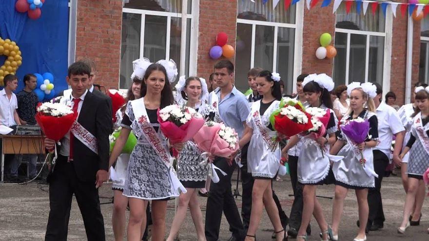 Выход выпускников на последний звонок, фото
