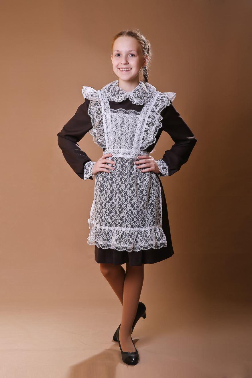 Платье на последний звонок школьное с фартуком, фото