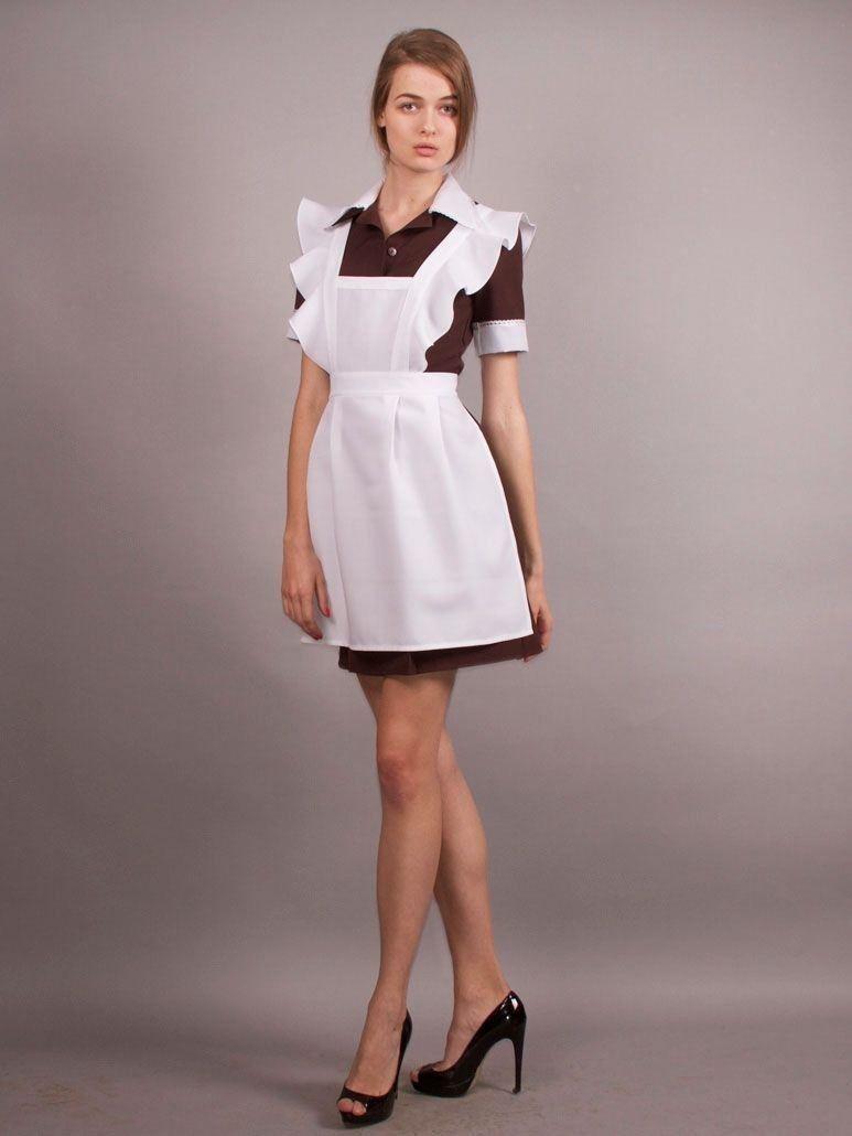 Школьное платье с фартуком на последний звонок