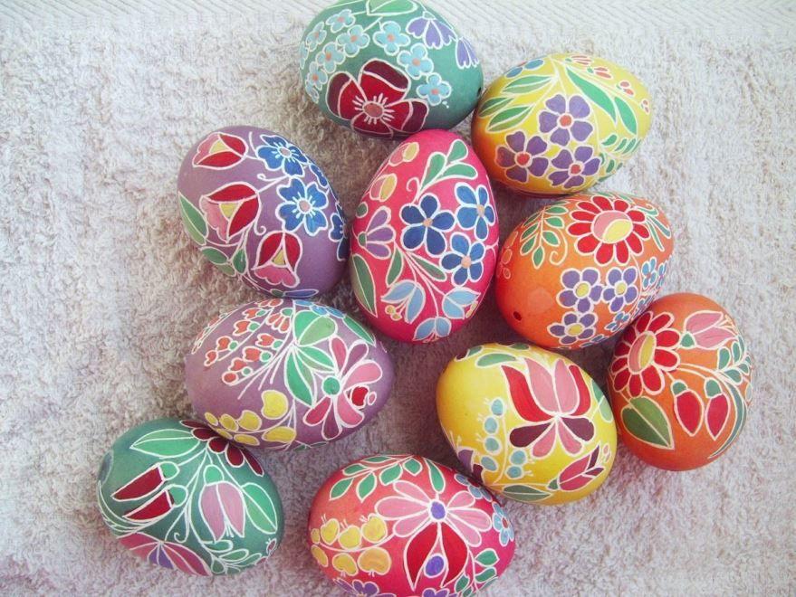Картинка красивые яйца на пасху