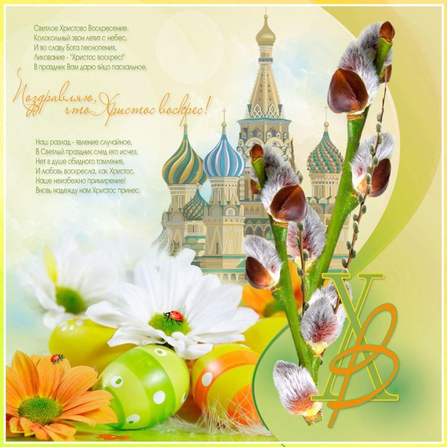 Православная пасха 2019 года, красивая открытка с поздравлением
