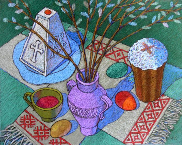 Рисунок на тему пасха для школьников