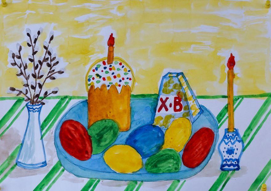 Детские рисунки на тему пасха