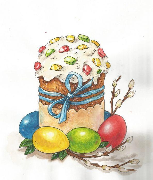 Рисунки на тему пасха для детей