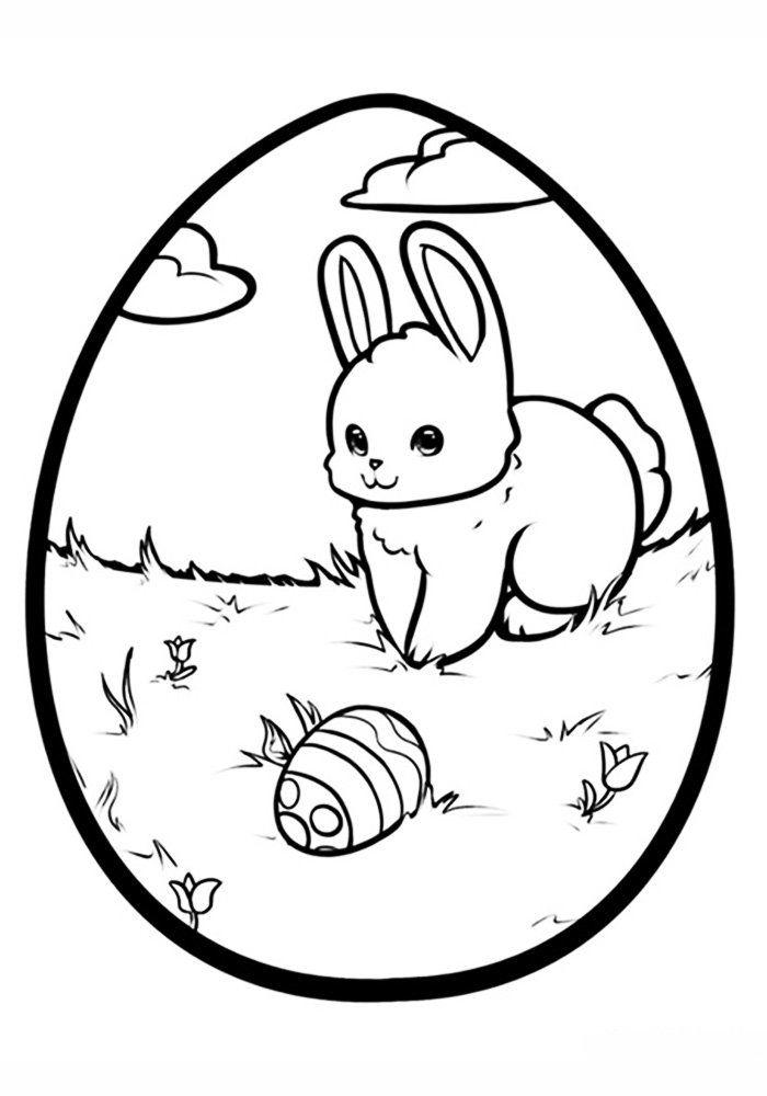 Картинка раскраска на тему пасха