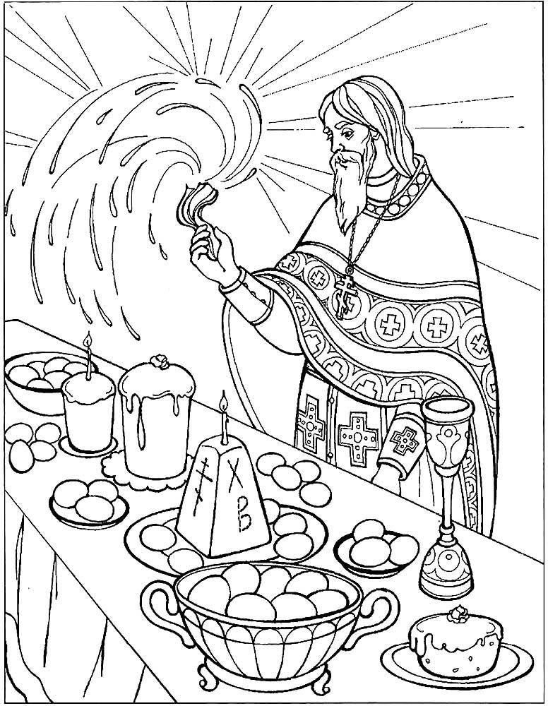 Рисунок на пасху раскраска