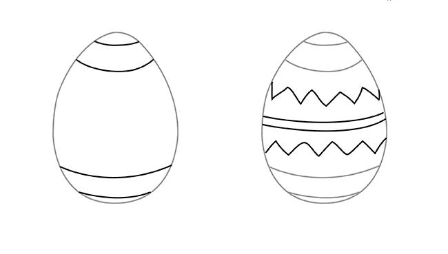 Как нарисовать яйцо на пасху