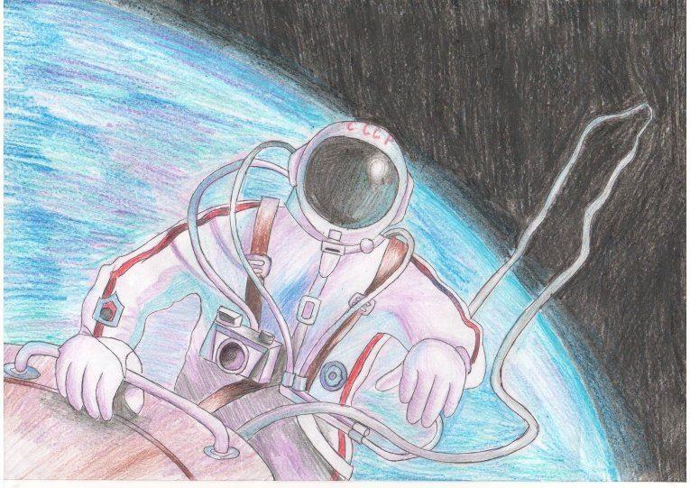 Рисунок на тему день космонавтики