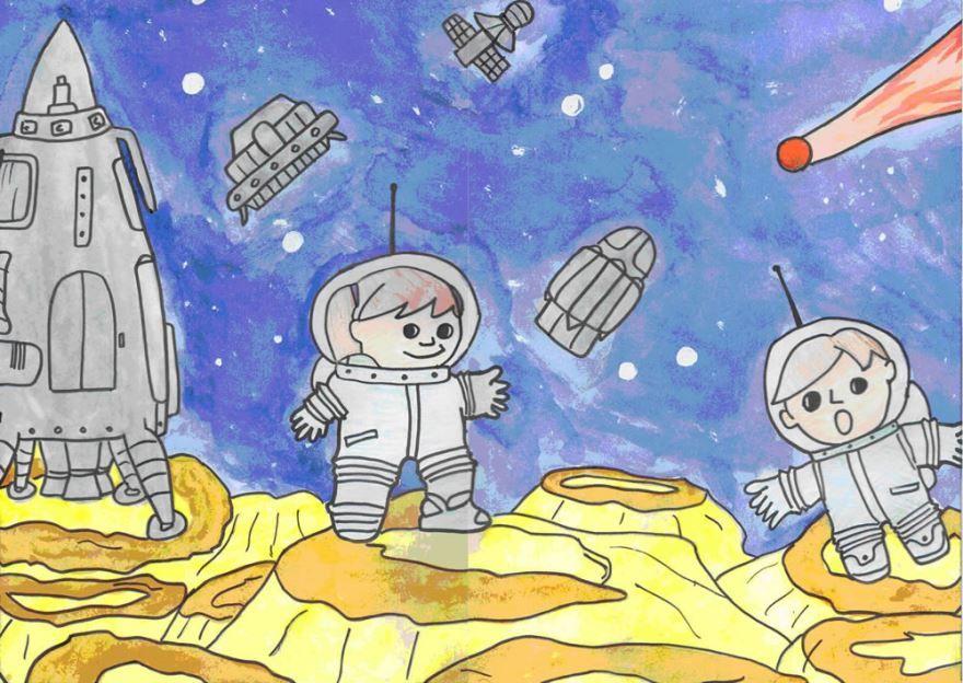 Рисунок на 12 апреля день космонавтики