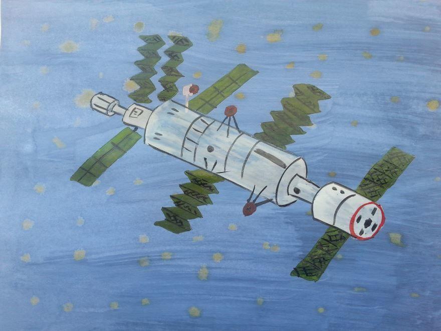 День космонавтики 2020, рисунок