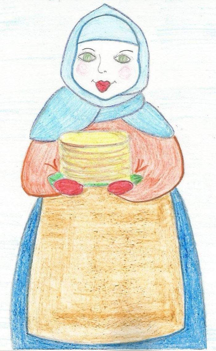 Рисунок Масленица, класс 5