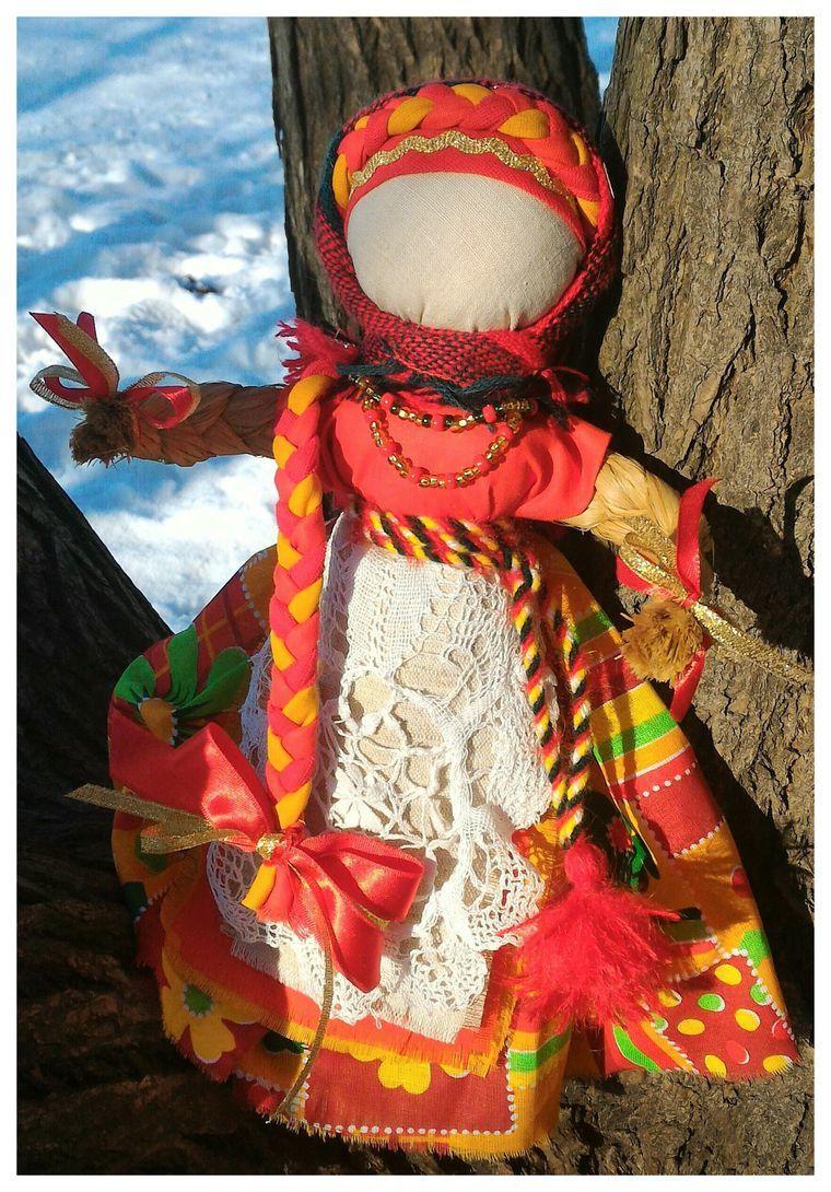 Кукла масленица из ткани