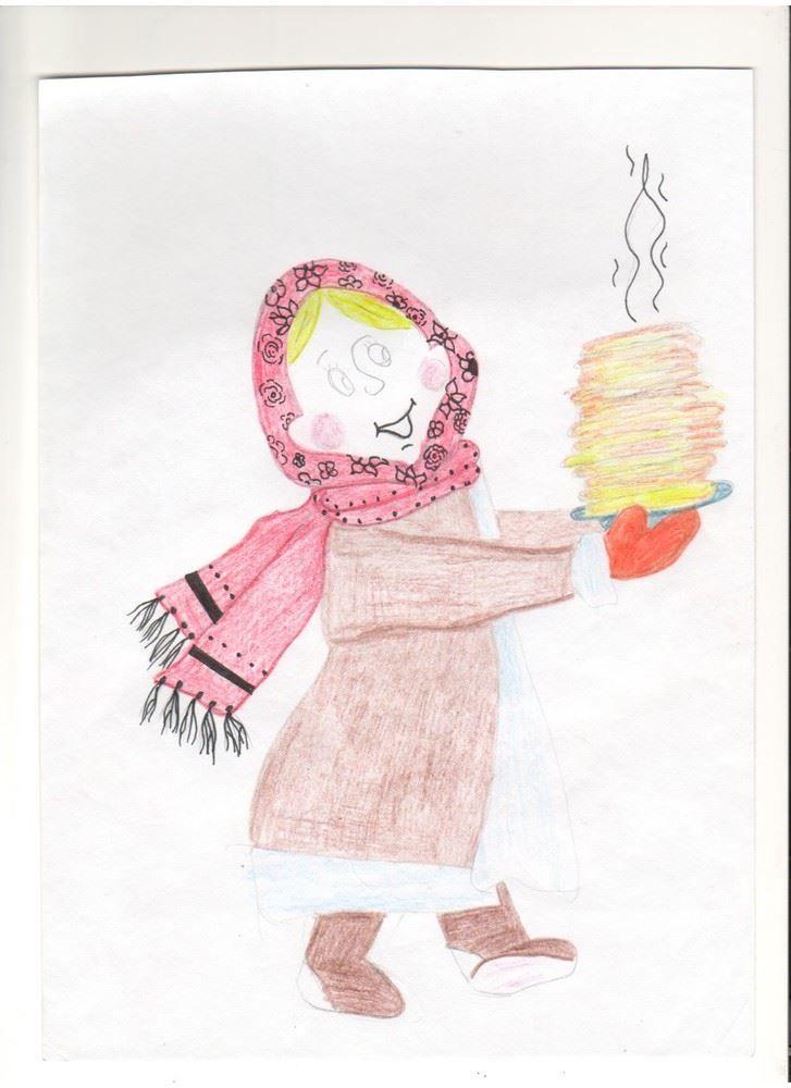 Детские рисунки карандашом на масленицу