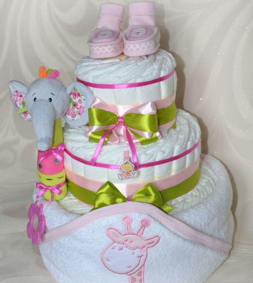 Подарок на рождение девочки - набор памперсов