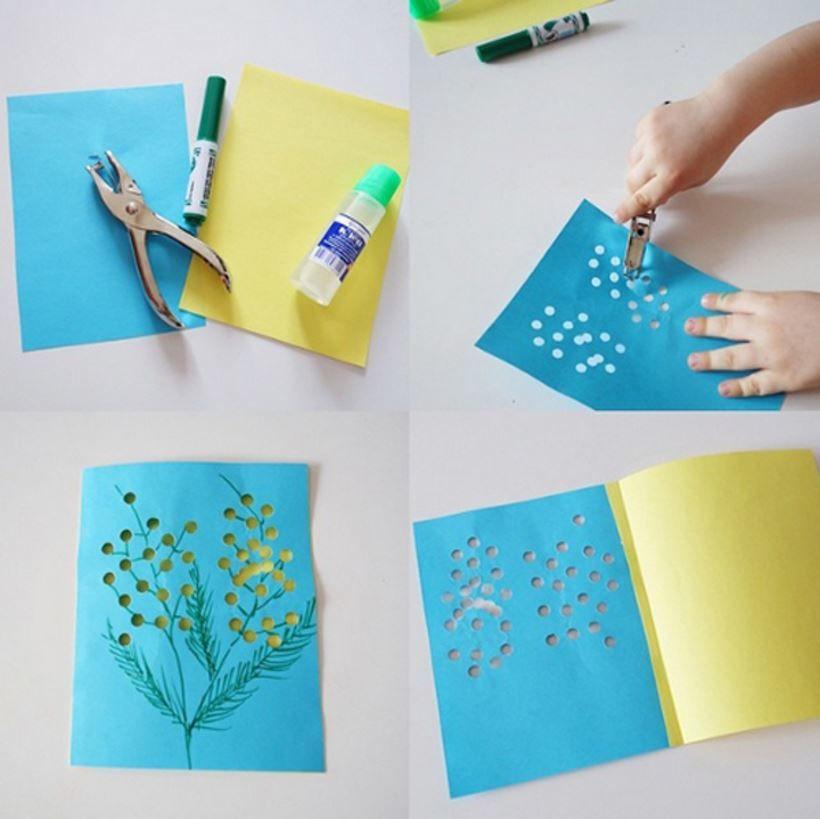 Как сделать открытку к 8 Марта, своими руками?