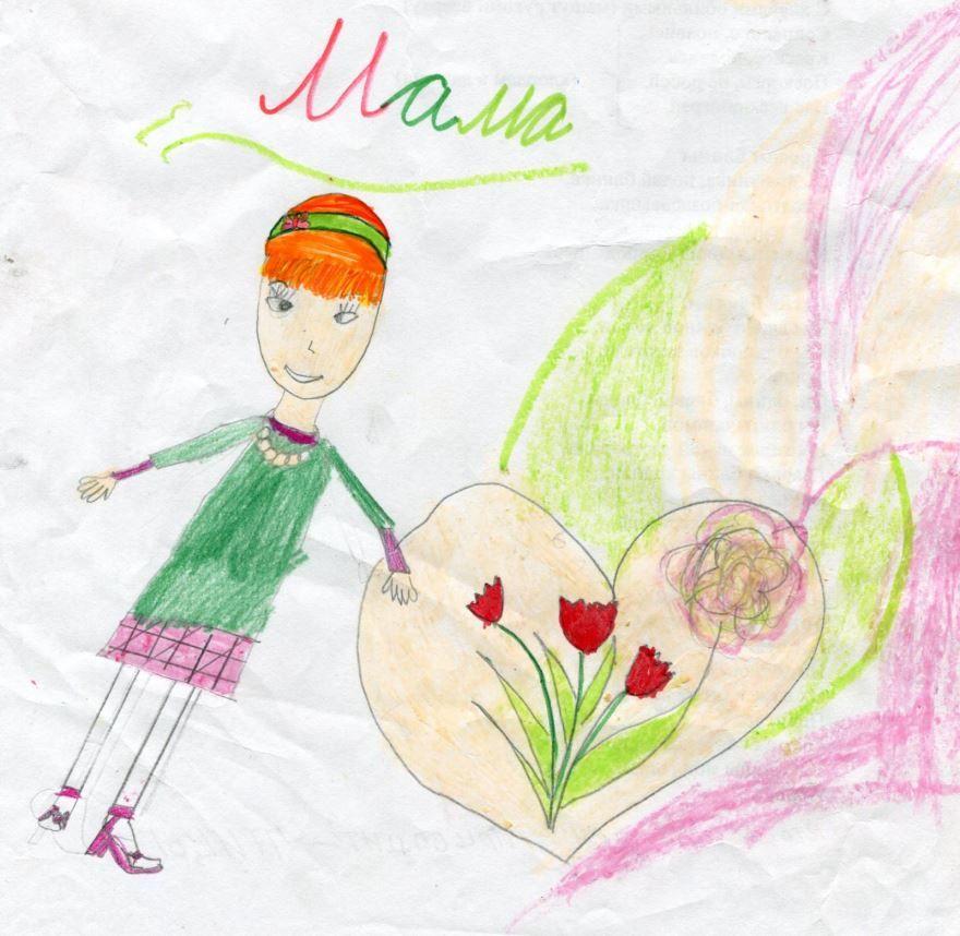 Рисунок 8 Марта маме карандашом
