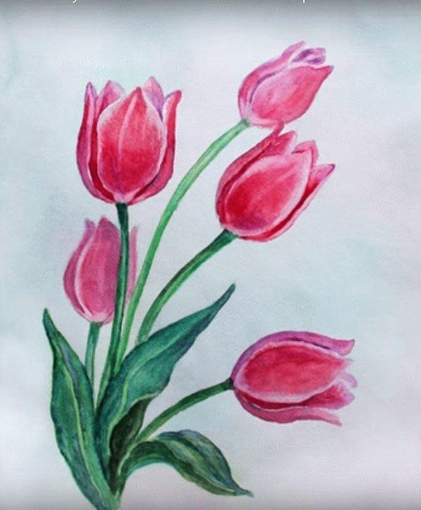 Нарисовать рисунок к 8 Марту
