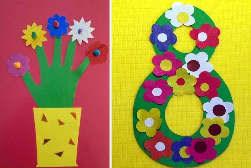 Цветы на 8 Марта, своими руками